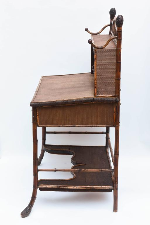 19th Century English Bamboo Desk For Sale 5