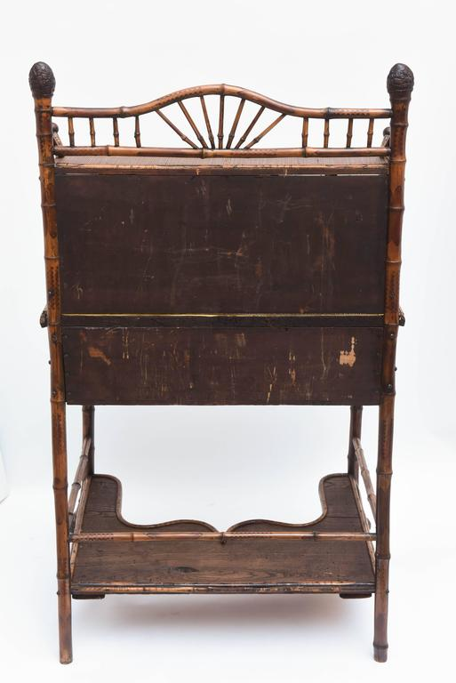 19th Century English Bamboo Desk For Sale 6