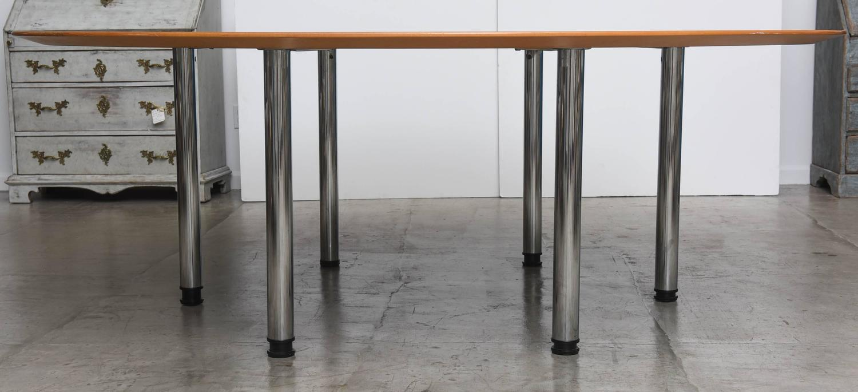 Swedish Circular Large Dining Table Klaus Wettergren  : DSC1861z from www.1stdibs.com size 1500 x 685 jpeg 92kB