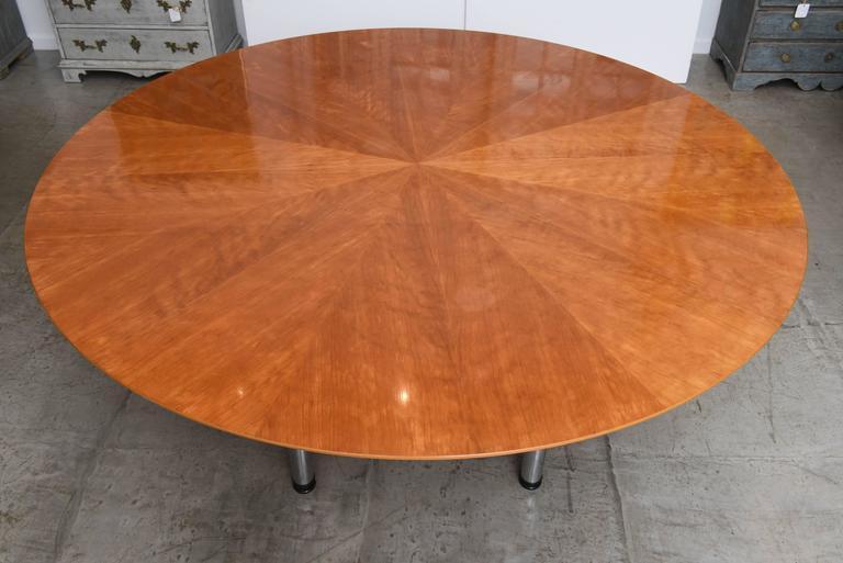 Swedish Circular Large Dining Table Klaus Wettergren  : DSC1867l from www.1stdibs.com size 768 x 513 jpeg 41kB