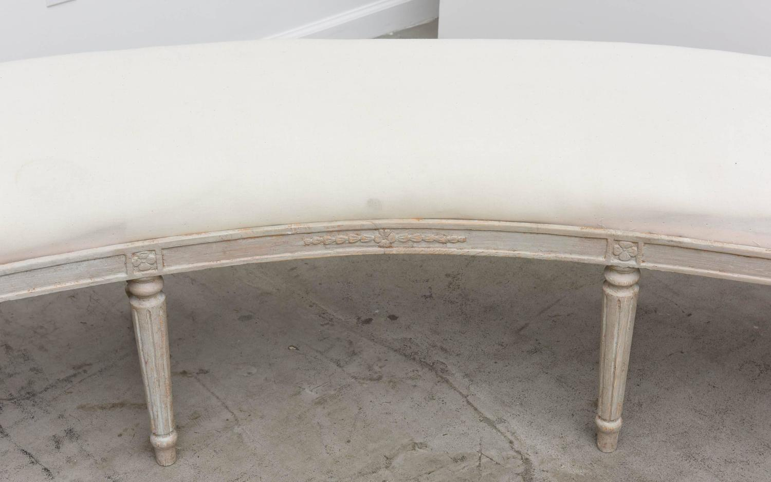 Unusually Large Antique Swedish Curved Bench At 1stdibs
