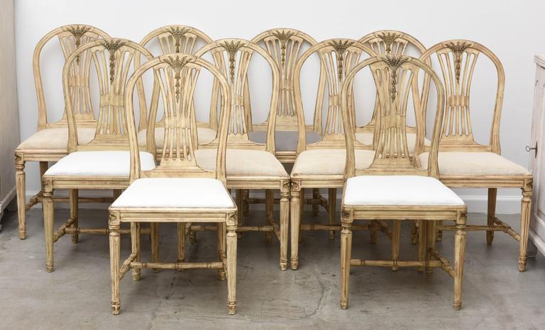 Set Of Ten Antique Swedish Dining Chairs At 1stdibs