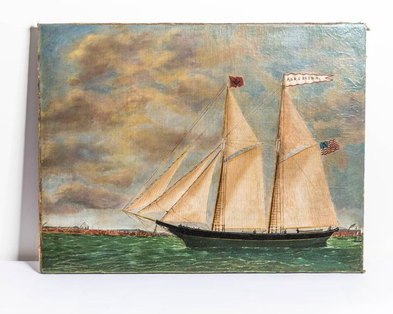 Oil on canvas by Baltimore artist William Hare, 1815-1865.