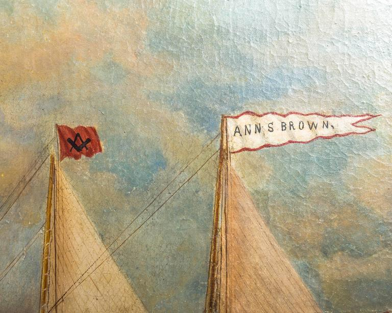 Schooner Ann S. Brown by William Hare In Good Condition For Sale In Southampton, NY