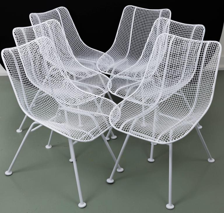 Woodard Mid-Century Modern Wire Mesh Chairs At 1stdibs