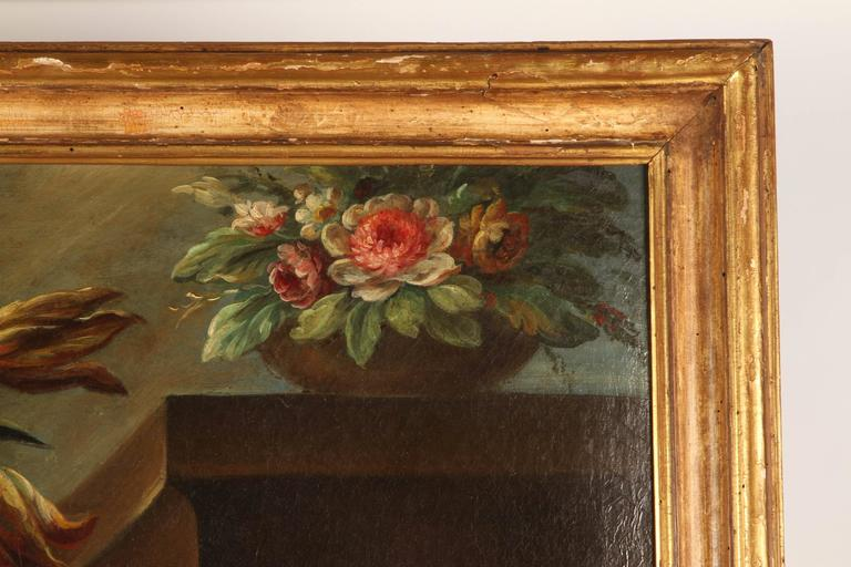 Pair of 19th Century Italian School Still Life Large Oil-On-Canvas Painting with For Sale 2
