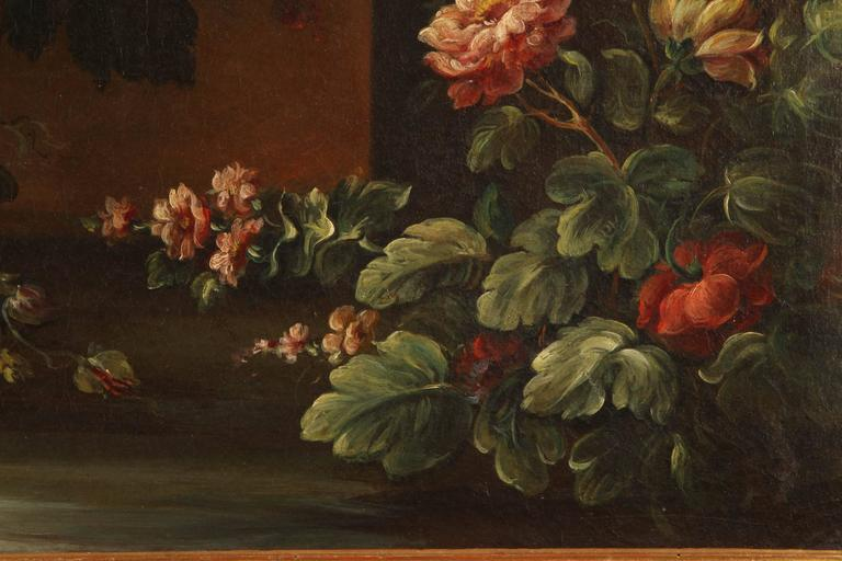 Pair of 19th Century Italian School Still Life Large Oil-On-Canvas Painting with For Sale 3