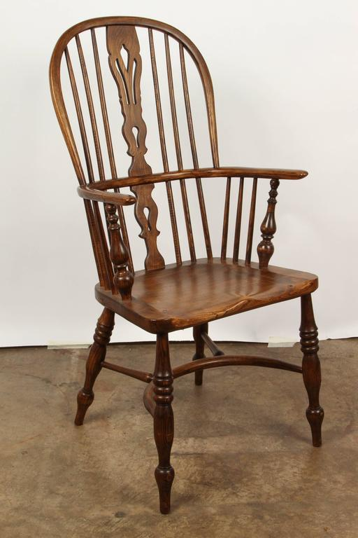 Jacobean One English Yew High Back Chair For Sale
