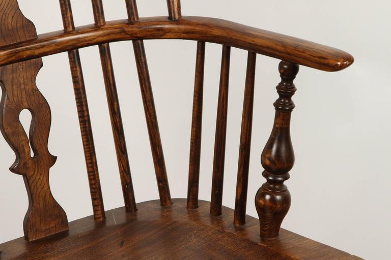 British One English Yew High Back Chair For Sale