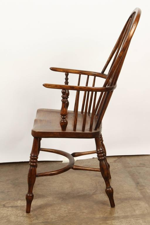 One English Yew High Back Chair For Sale 1