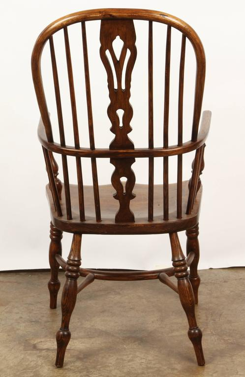 One English Yew High Back Chair For Sale 2