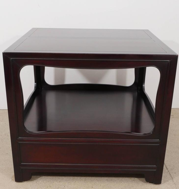 Pair of Mahogany End Tables by Michael Taylor for Baker 9