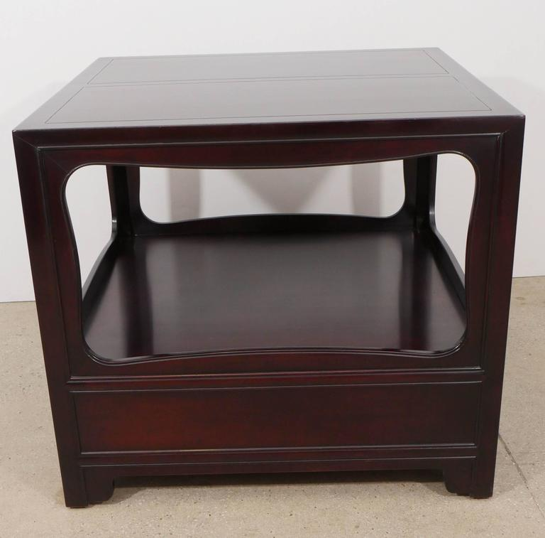 Pair of Mahogany End Tables by Michael Taylor for Baker 10