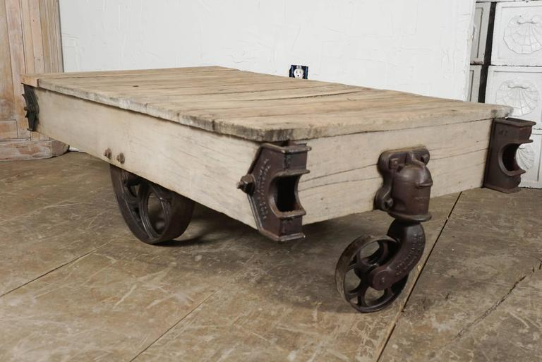 Other Vintage Industrial Cart Coffee Table For Sale