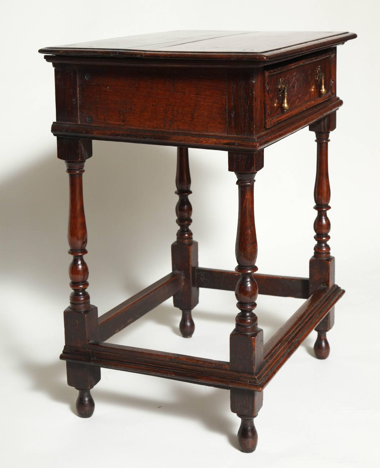 Charles II English Oak Side Table For Sale At 1stdibs. Full resolution  photograph, nominally Width 1216 Height 1500 pixels, photograph with #613324.