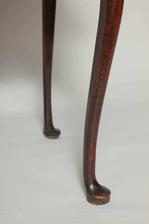 Queen Anne Oak Pad Foot Table At 1stdibs