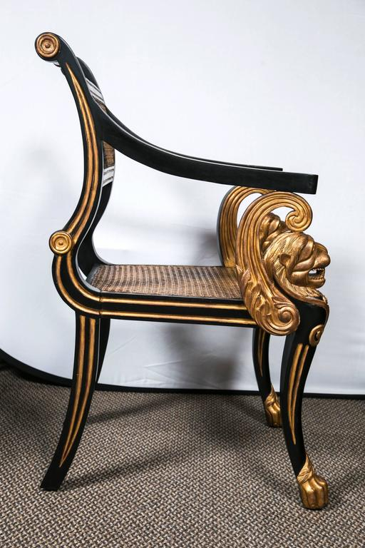 Set of 24 lion head hollywood regency style dining chairs for Dining room head chairs