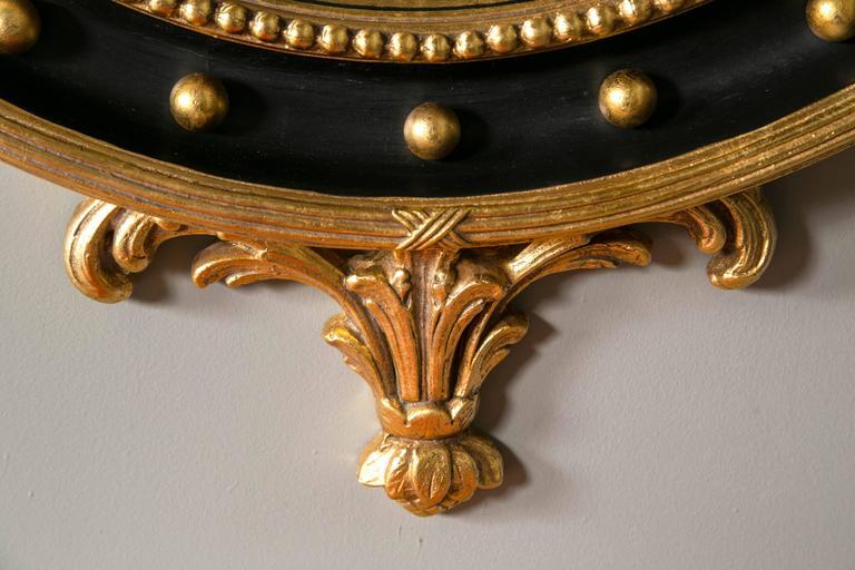 Federal Style Bullseye Mirror Custom Quality At 1stdibs