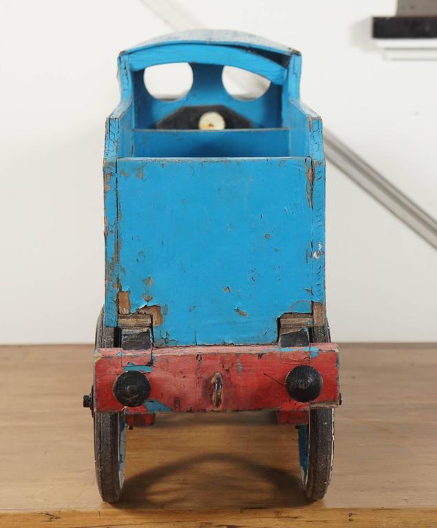 English Blue Toy Train For Sale