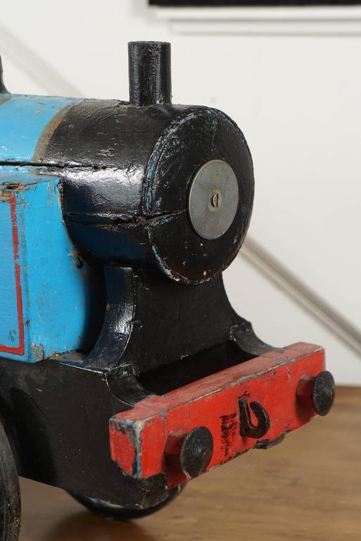 Blue Toy Train In Good Condition For Sale In Sheffield, MA