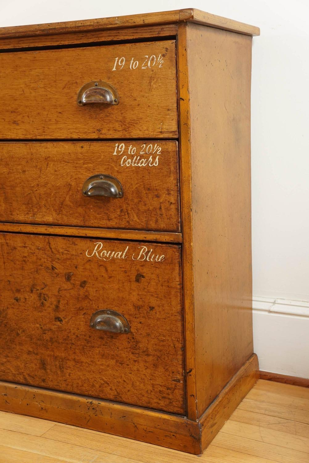 Men 39 s clothing store dresser base at 1stdibs How to store clothes without a dresser