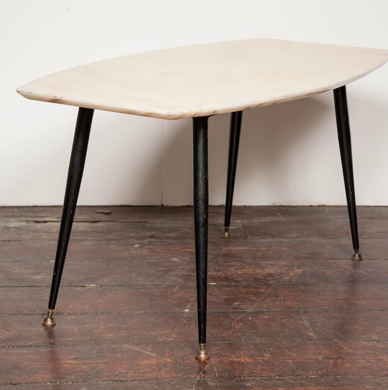 Italian Marble Coffee Table Top: 1950's Italian Marble Top Coffee Table For Sale At 1stdibs
