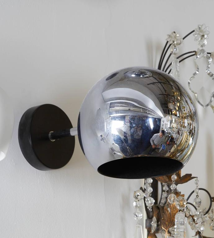 Wall Sconces That Shine Up And Down: Pair Of German 1970s Articulated Globe Sconces At 1stdibs
