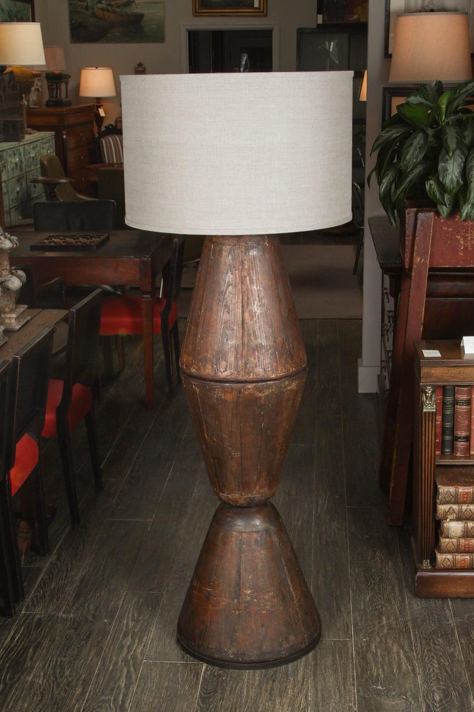 Wood Mold Lamp At 1stdibs