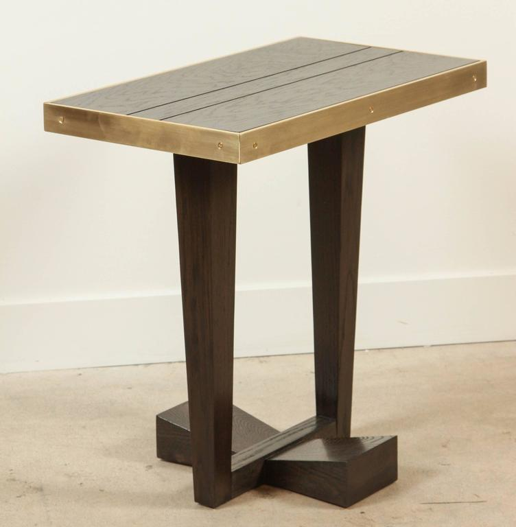 Brass Rialto Table by Lawson-Fenning For Sale