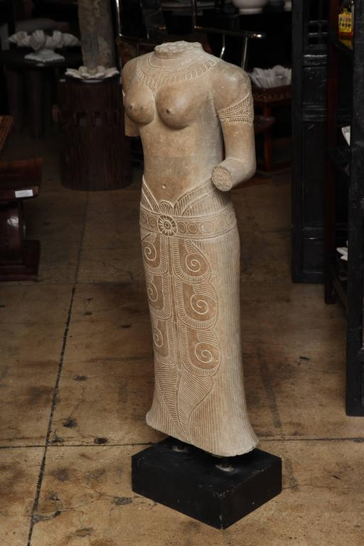 A carved female stone torso at stdibs