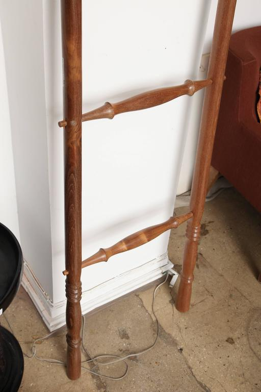 Contemporary Teak Wood Decorative Ladder For Sale