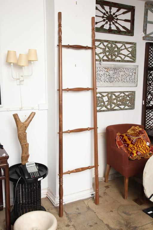 Teak Wood Decorative Ladder For Sale 1