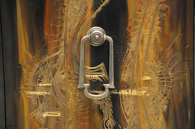 Mastercraft Brass Credenza by Bernhard Rohne In Excellent Condition For Sale In Chicago, IL