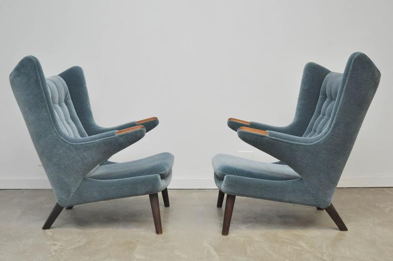 20th Century Pair of Hans Wegner Papa Bear Chairs For Sale
