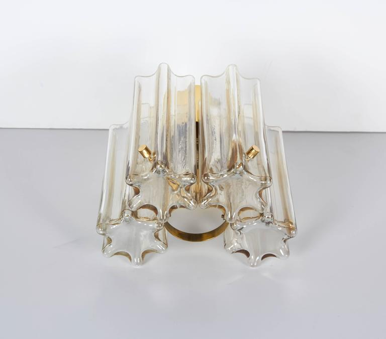 Polished Pair of Mid-Century Modern Venini Glass Sconces by Limburg For Sale