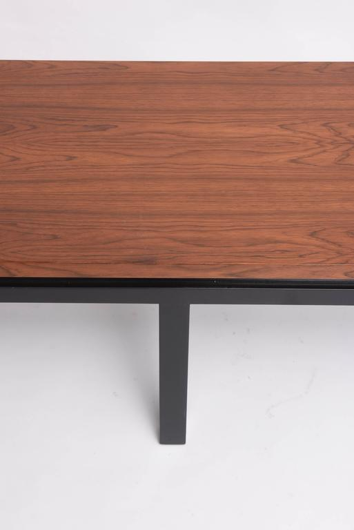 Painted Mid-Century Modern Walnut Wood Bench or Cocktail Table, Style of Harvey Probber For Sale