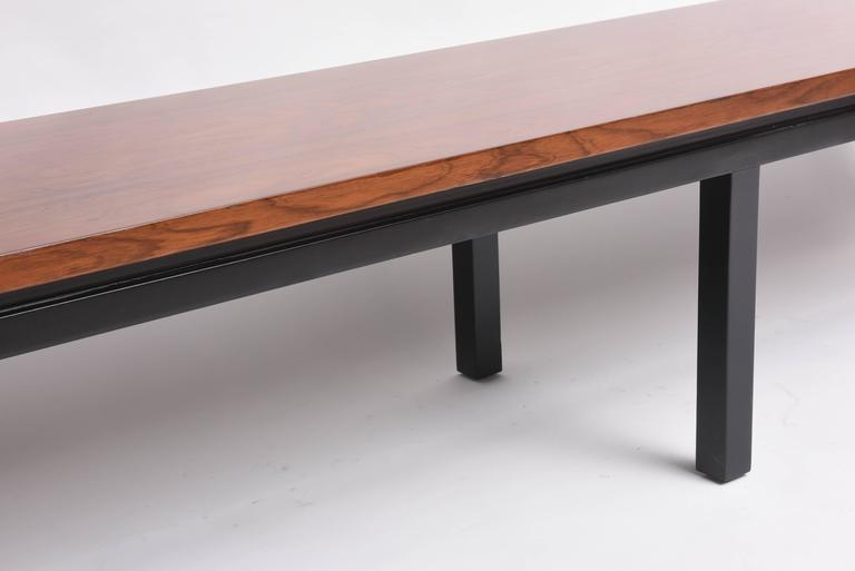 20th Century Mid-Century Modern Walnut Wood Bench or Cocktail Table, Style of Harvey Probber For Sale