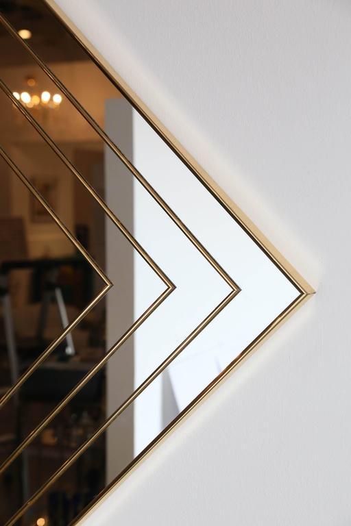 Mid Century Modern Gold Tone Multi Border S 3 Diamond