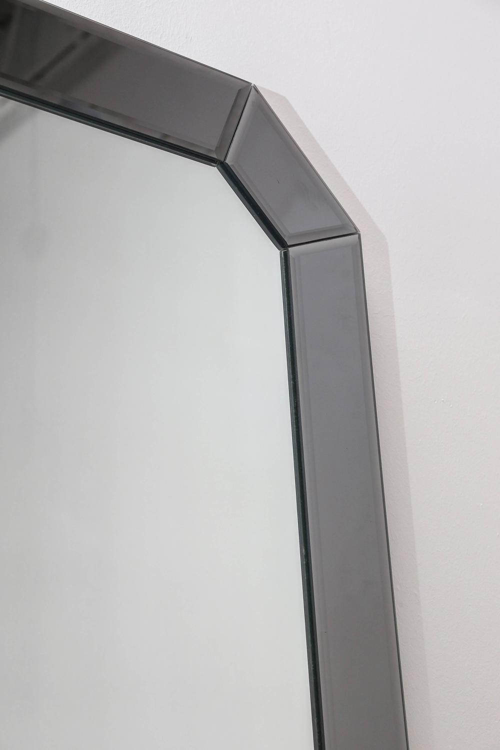 Large bevelled geometric hollywood glamour decorative wall for Hanging a large mirror