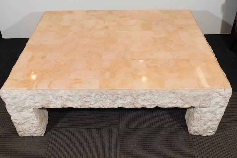 MaitlandSmith Rough Edge Travertine Coffee Table At Stdibs - Travertine coffee table