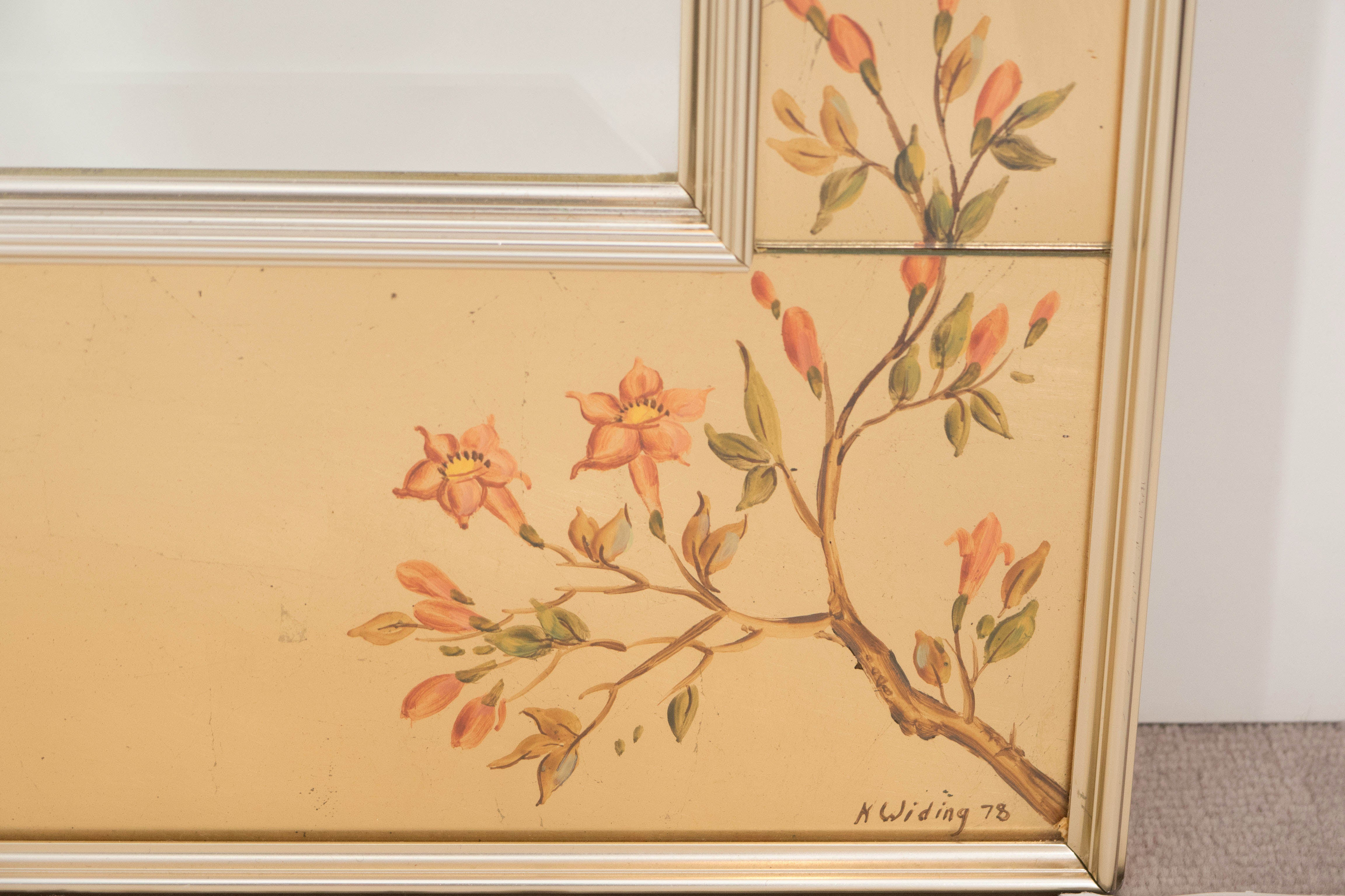Labarge Mirror with Hand-Painted Églomisé Frame in the Chinoiserie ...