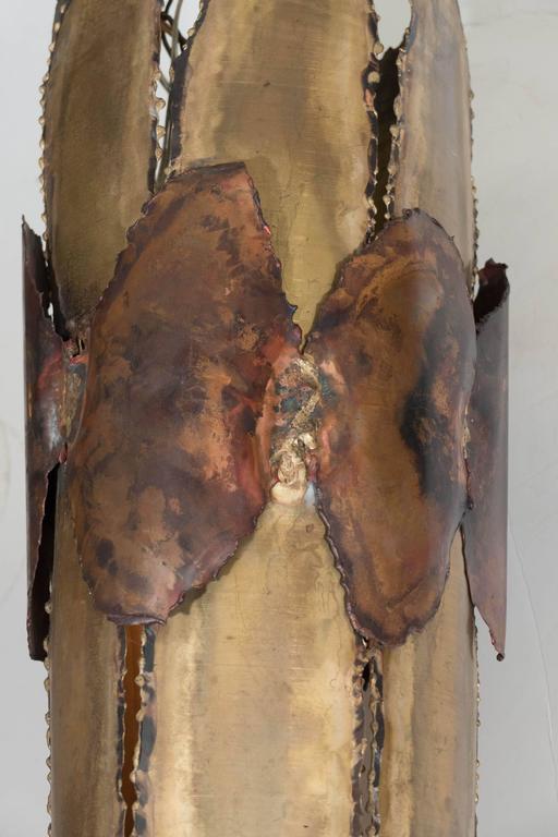 20th Century Midcentury Brutalist Torch-Cut Pendant For Sale