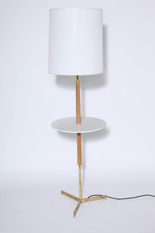 195039s bleached mahogany and brass floor lamp with off for 1950 s brass floor lamp