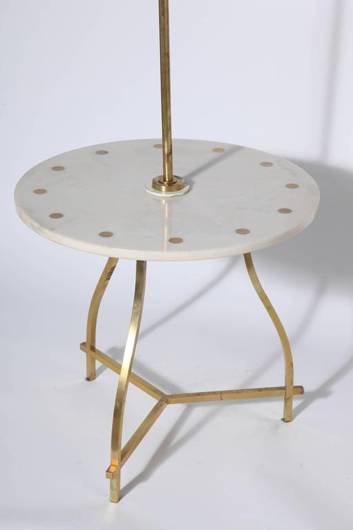 marble brass white candelabra combination side table floor lamp. Black Bedroom Furniture Sets. Home Design Ideas