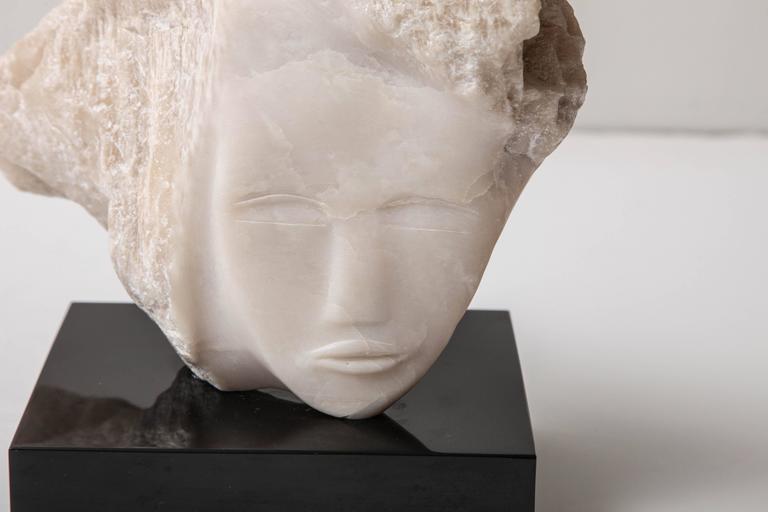 Wendy Hendelman White Alabaster Head Sculpture, 2014 2