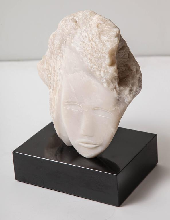 Wendy Hendelman White Alabaster Head Sculpture, 2014 3