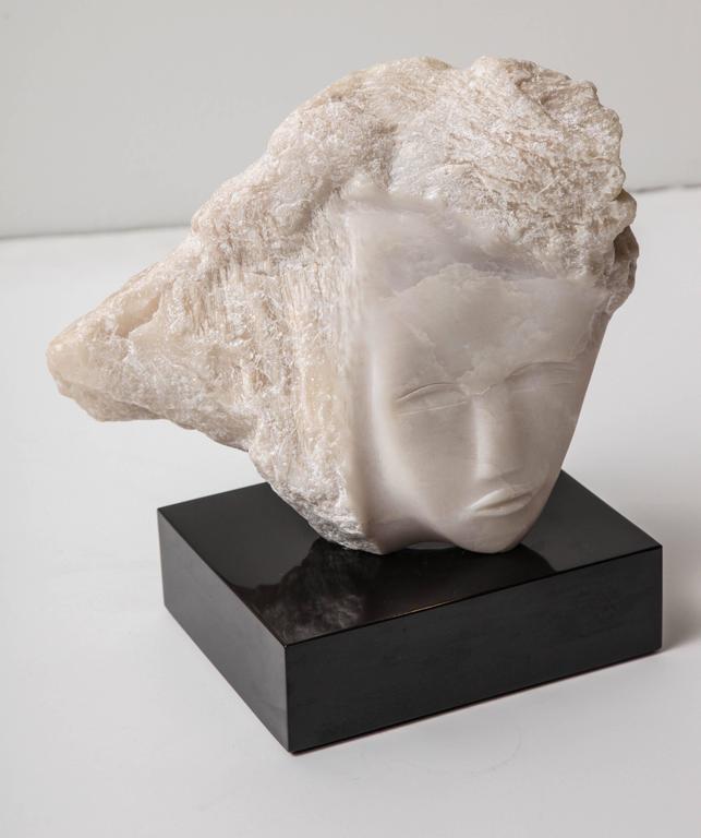 Wendy Hendelman White Alabaster Head Sculpture, 2014 4
