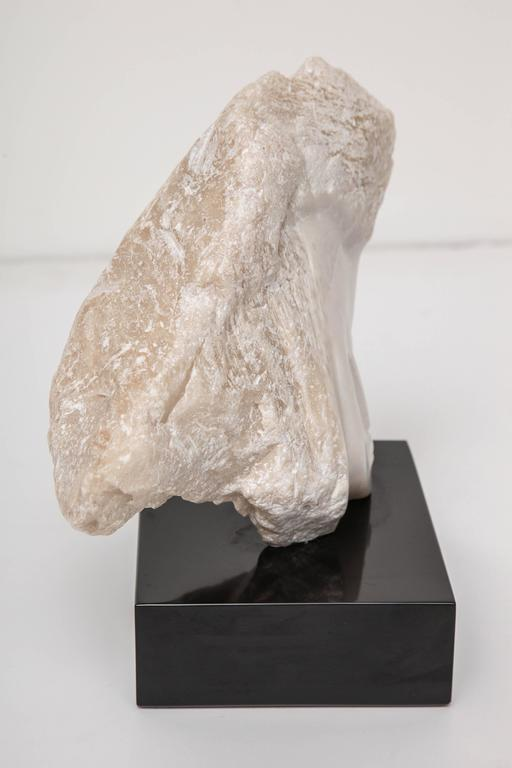 Wendy Hendelman White Alabaster Head Sculpture, 2014 5