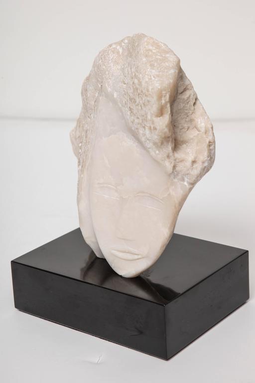 Wendy Hendelman White Alabaster Head Sculpture, 2014 8