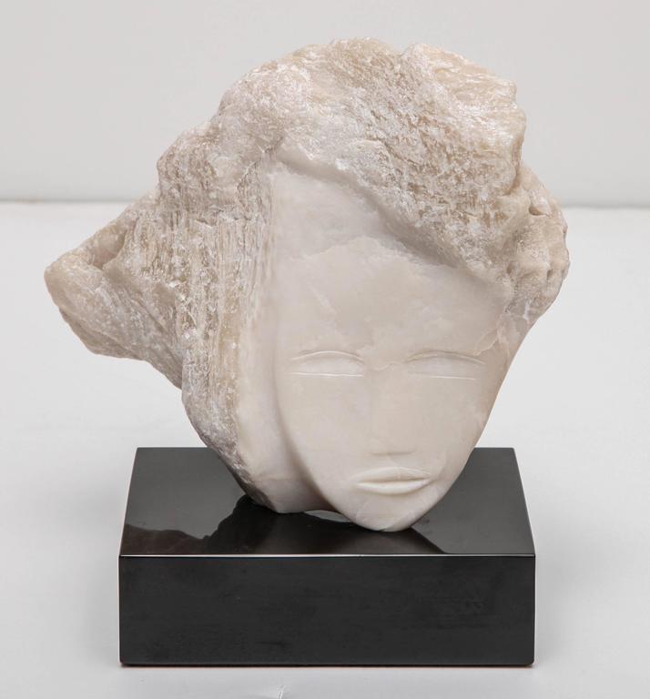 Wendy Hendelman White Alabaster Head Sculpture, 2014 9